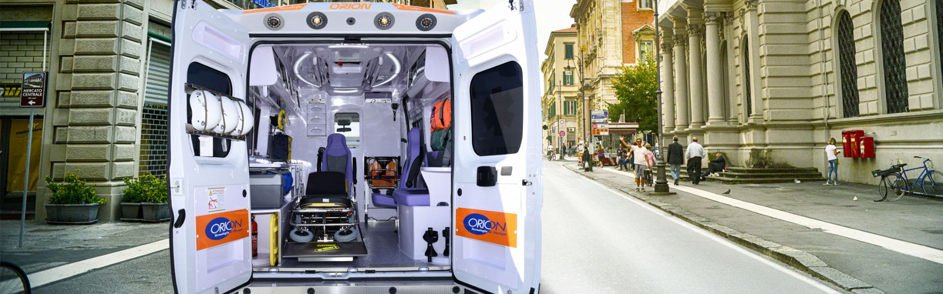 Ambulances for rescue services