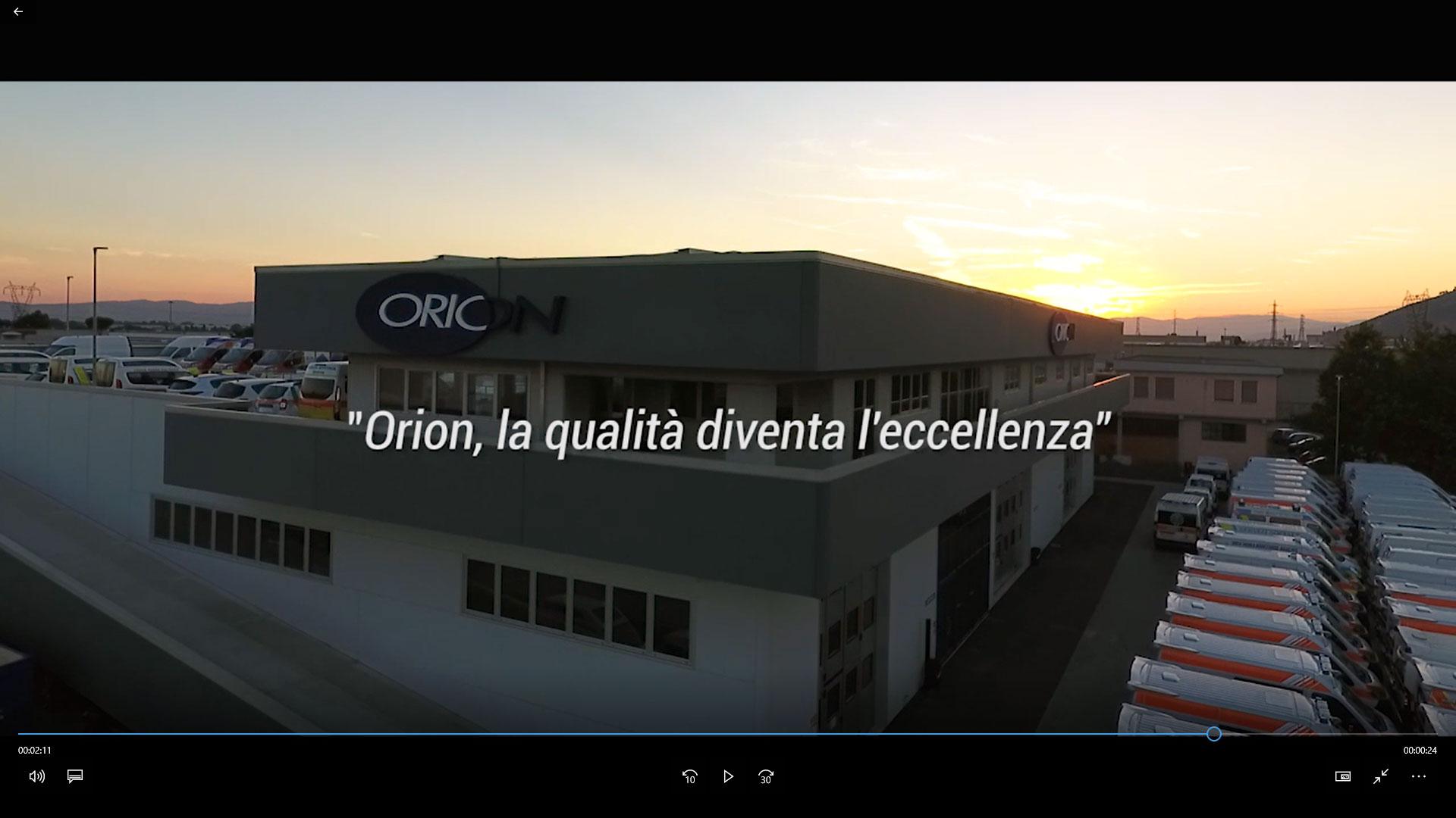 Video istituzionale ORION – 2017